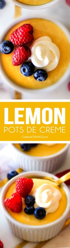 MAKE AHEAD, silky Lemon Pots de Creme are the ideal light and refreshing dessert while still insistently lemony and luxuriously creamy! A must this spring or summer!