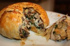 portobello mushroom wellingtons.  Want this for my birthday dinner!!!