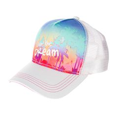 Livin' the Dream Palm Trees Baseball Cap | Claire's