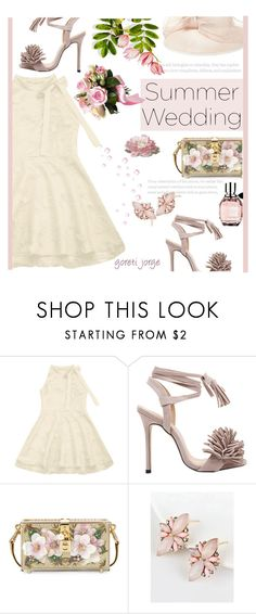 """Say I Do: Summer Weddings - ""Zaful"""" by goreti ❤ liked on Polyvore featuring Dolce&Gabbana and Marc Jacobs"