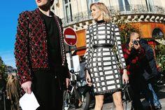 Elena Perminova at Paris Fashion Week