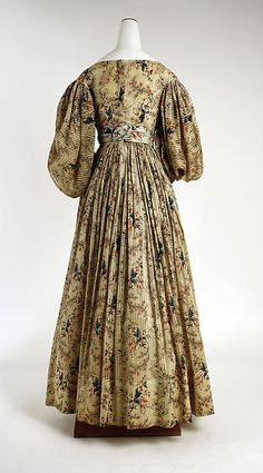Dress 1830, American, Made of cotton