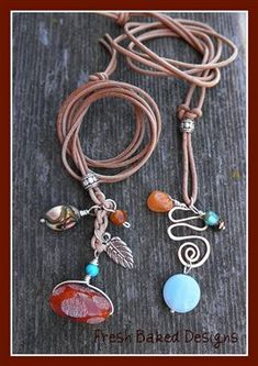 "Pinner said ""I made some necklaces similar to this and they sold right away. reminder to continue the trend...    ""Charmed"" Leather Necklaces - Jewelry Making Daily"""