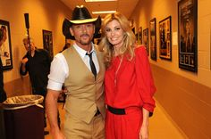 Tim McGraw and Faith Hill.