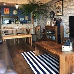 GTOさんの、雑貨,輸入雑貨,観葉植物,一人暮らし,フェイクグリーン,カフェ風,マリンテイスト,部屋全体,のお部屋写真