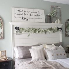 What Do You Wanna Be Married To Me For Anyhow Shiplap Wood Sign - Pleasant DIY home decor displays to look at this weekend, hop by that super creative post example 4 - Rustic Bedroom Decor, Farm House Living Room, Bedroom Design, Guest Bedrooms, Bedroom Decor, Diy Home Decor, Shiplap Wood, Home Decor, Remodel Bedroom