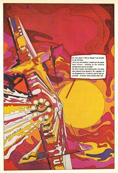 Mike Hinge, page from graphic magazine Heavy Metal, 1975/79. Via alphabettenthletter