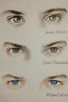 Sofia Nunes, 2013. Supernatural eyes colour sketches