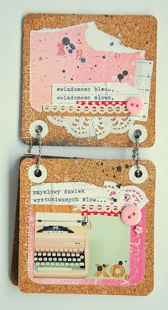 memory book made with cork coasters, love it!