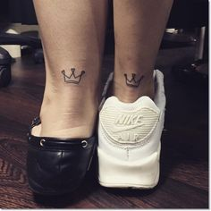 Small Crown for Sisters Tattoo