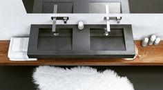 Lavabo double suspendu en béton SLANT 07 DOUBLE by Gravelli design Tomáš Vacek