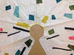 Planning colours for bonded silk, patchwork jacket