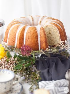 Jaleo en la Cocina: Bundt Cake de limón, jengibre y semillas de amapola