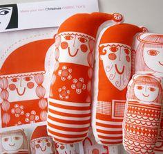 Scandinavian Christmas Toy Kit - makes 4 toys