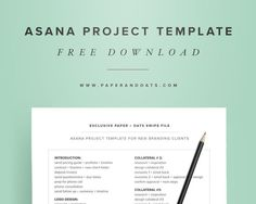 Free download – Asana project template from Paper  + Oats: