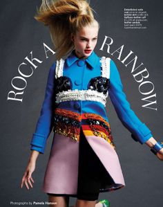 Rock A Rainbow: #IsabelScholten by #PamelaHanson for #GlamourUK March 2014