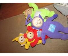 Telly Tubbies T.J. Talking bear Wooden Dolls house and furniture