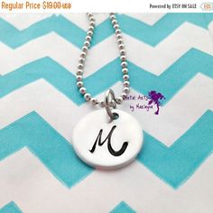 Monogram Pendant Initial Necklace Personalized Necklace Girlfriend Gift Mothers Day Gift Mom Gift Gifts for her
