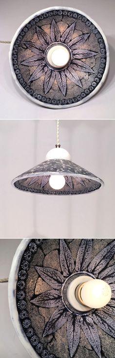 Ceramic Luminaire | Керамический светильник с набивным рисунком «Кобальт» — Купить, заказать, светильник, лампа, свет, освещение, интерьер, декор, керамика, фарфор, ручная работа