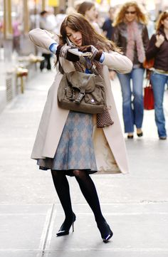 Anne Hathaway in The Devil Wears Prada, before transformation