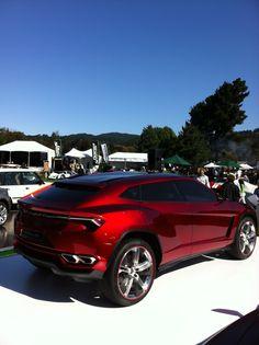 The rear-view of the Lamborghini Urus SUV at Pebble.