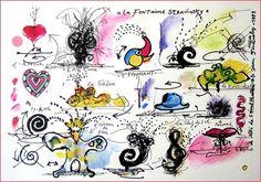 Niki de Saint-Phalle et Jean-Tinguely, Fontaine Stravinsky, 1983 (sérigraphie)