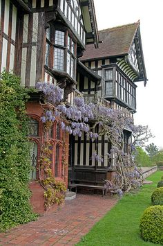 Wightwick Manor--the building & interiors were heavily influenced by the English Arts & Craft Movement.  Today, under the Owlpen Manor Estate, it remains one of the best fully preserved examples of the style.