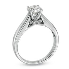 For Eternity 1/2 CT. T.W. Princess-Cut Diamond Solitaire Engagement Ring in 14K White Gold - Zales