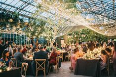 Today's magical forest wedding encourages you to linger - linger over the spectacular lights that mimic the stars, linger over the evergreen decor Enchanted Forest Wedding, Magical Forest, Woodland Wedding, Wedding Trends, Wedding Designs, Forest Wedding Reception, Hanging Tea Lights, Dream Of Getting Married, Reception Entrance