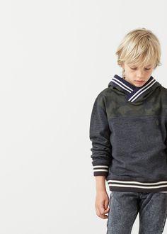Mintás pamut sweatshirt -  Gyerek | MANGO Kids Magyarország