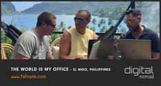 The World Is My Office - El Nido, Philippines Digital Nomad, Philippines, The Good Place, World, Travel, Viajes, Trips, Traveling, Tourism
