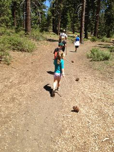 """I like the idea of bringing pet pinecones when the children go for a walk or run outdoor. It is easy to make a pet pinecone with a large pinecone, a stick, and some strings. The children will love and find fun to go outdoor with their unique pet - """"Mr Cone"""" or """"Piney"""" . (by Susana)"""