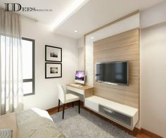 Bestudeer HDB DBSS @ Parkland Residences – Interior Design Singapore – Home design – Welcome The uniteTv Bedroom Interior Design Images, Bedroom Tv Unit Design, Tv Console Design, Tv Unit Bedroom, Living Room Tv Unit, Master Bedroom Design, Living Room Modern, Living Room Designs, Home Design