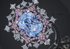 Купить Кольцо с голубым сапфиром Blue sapphire and diamonds  ring Gem Lovers Ildar