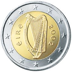 Ireland €2 (two Euro) Coin