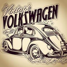 Logo Vintage Volkswagen … - Vintage and Retro Cars Volkswagen New Beetle, Vw Bus, Vw Camper, Volkswagen Logo, Mini Cooper 2011, Bentley Auto, Vw Vintage, Poster Vintage, Logo Vintage