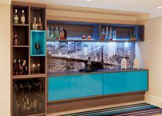 Bar azul casório