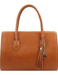 Tuscany Leather TL Bag - Sac à main en cuir avec pompon et bandoulière Sacs à main en cuir
