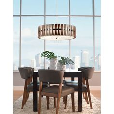 Kichler Lighting Cirus Collection 5 Light Auburn Stained Finish Pendant Semi Flush Mount