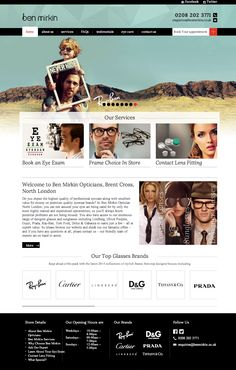 Design for Ben Mirkin Opticians. Check it out here:  http://www.benmirkin.co.uk/  For more info on great #websites for #opticians visit www.opticommerce.co.uk