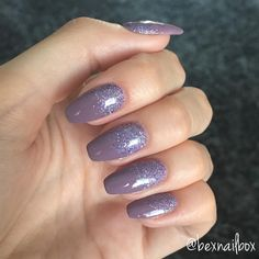 Bluesky Gel Polish Move Over Mauve GlitterArty Glitter - Diamond In The Rough