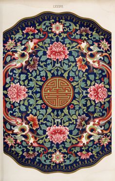 Jones, Owen, / Examples of Chinese ornament selected from objects in the South Kensington Museum and other collections. Chinese Design, Asian Design, Chinese Style, Chinese Ornament, Chinese Prints, Chinese Element, Chinese Patterns, Chinese Embroidery, Arte Sketchbook