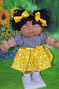 "Cabbage Patch Doll Cloths- Girls - Dress-Panties-2 Hair Ribbons -    fits 16"" #CabbagePatchKids 90s Kids, Kids Girls, Vintage Cabbage Patch Dolls, Cabbage Patch Babies, Garbage Pail Kids, Cuddle Buddy, Hair Ribbons, Kids Patterns, Reborn Dolls"