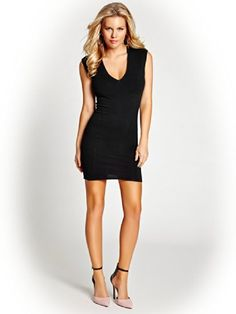 39022be63af GUESS Women s Cap-Sleeve Lace Back Body-con Dress  Back