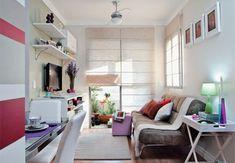 Sala do apartamento pequeno decorado