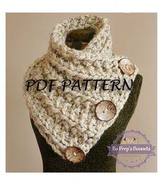 Knit Scarf  PDF PATTERN  Knitting PATTERN Chunky by BoPeepsBonnets
