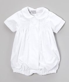 Another great find on #zulily! White Cross Bubble Bodysuit - Infant by Sweet Dreams #zulilyfinds