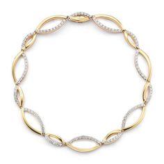Ivanka Trump Aberdeen 18K Yellow Gold & Diamond Woven Link Bracelet