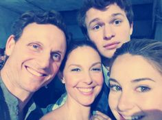 Ansel Elgort shares photo of Prior family on 'Divergent' set (Shailene Woodley, Ashley Judd, Tony Goldwyn)