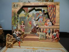 Autumn Beautiful antique pop up book 1884 Mcloughlin. still got this